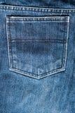 后面口袋牛仔裤纹理 免版税库存图片