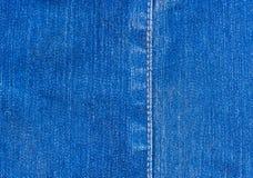 后面地面的Autiful葡萄酒蓝色牛仔布牛仔裤 库存图片