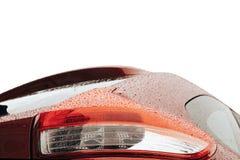 后面浅红色的汽车细节 免版税库存图片