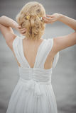 后面看法新娘发型 库存图片