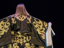 后面观点的和服妇女 图库摄影
