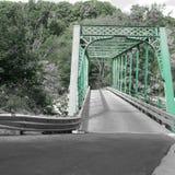 后面路绿色桥梁 免版税库存照片