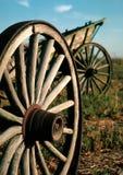 后1800为种田使用的` s无盖货车 免版税库存图片