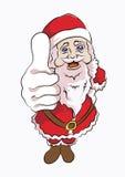 向上佩带红色拇指的圣诞老人 免版税图库摄影