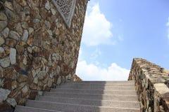 向上带领的楼梯 免版税库存图片