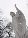 向上指向的天使 库存照片