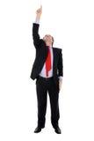 向上指向的生意人 免版税图库摄影