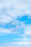 向上漂浮的泡影 库存图片