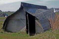 向上的小船小屋,诺森伯兰角 免版税库存图片