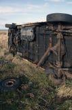 向上的有篷货车 免版税库存照片