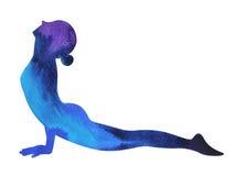 向上饰面狗瑜伽姿势, Urdhva Mukha Svanasana,瑜伽位置 库存照片