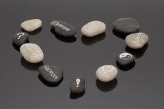 向健康扔石头 免版税图库摄影