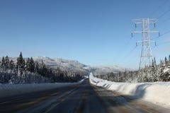 向冬天的北部路 库存图片