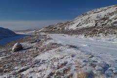 向冰冠的路 库存照片
