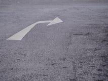 向右转的交通标志 库存图片