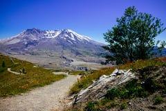 向圣海伦山的自然道路 免版税库存照片
