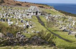 向圣Tudno ` s教会的道路兰迪德诺的,威尔士,英国 库存图片