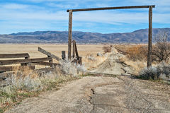 向大农场的路 免版税库存照片