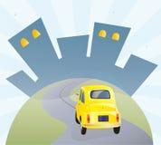 向大城市的路 免版税库存照片