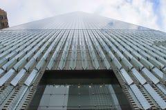 向天空一个世界观测所,纽约看法  库存照片