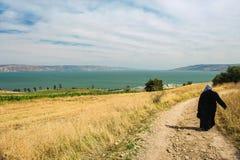 向山上布道地方的道路  免版税图库摄影