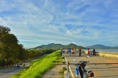 向山的路在泰国 免版税图库摄影