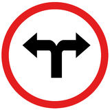 向左转或转动rightn标志 免版税库存照片