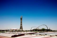 向往体育体育场,多哈,卡塔尔 库存照片