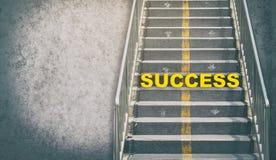 向成功概念的楼梯道路 库存图片