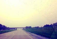 向成功的被风化的道路 库存照片