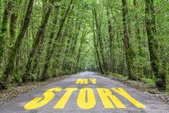 向我的故事的密林路 免版税库存照片