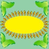 向日葵抽象自然背景明信片 免版税库存图片