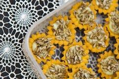 向日葵种子自创曲奇饼 免版税图库摄影