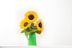 向日葵花束 库存照片