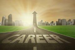 向明亮的事业的路 免版税库存照片