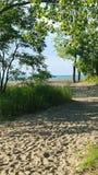 向海滩的道路 库存照片