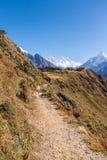 向珠穆琅玛的路 免版税库存图片