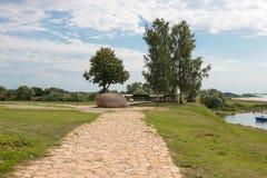向石头的石路 免版税图库摄影