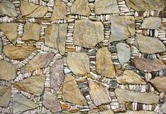 向纹理墙壁扔石头 库存图片