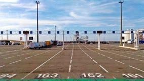 向船的道路在回到英国的途中 免版税库存图片