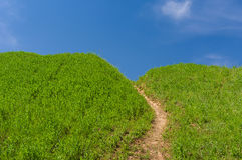 向蓝色天堂的道路 库存图片