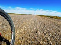 向蓬塔Loma的石渣路 免版税库存图片
