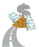 向赢利概念例证的路 免版税库存图片