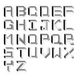向量不可能的字母表。 键入例证 库存照片