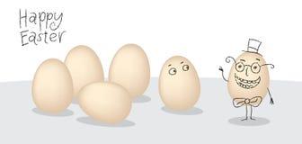 向量与动画片小的面颊的复活节彩蛋。 简单的草图eas 库存照片