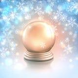 向量与雪花的圣诞卡背景 免版税库存照片