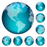 向量加点的地球 免版税库存照片