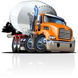 向量动画片搅拌机卡车 库存图片