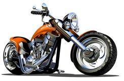 向量动画片摩托车 免版税库存图片