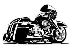 向量动画片摩托车 库存图片